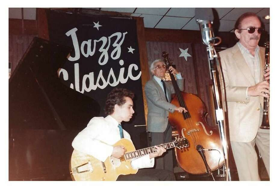 Courtesy of the West Texas Jazz Society, this undated vintage photo features Howard Alden on guitar, Jack Lesberg on bass and Phil Bodner on clarinet. Leonnig hopes to capture the 50-year history of jazz in West Texas with his new documentary 'Sure Proud You All Could Come: West Texas Jazz at 50.' Photo: Via Facebook.