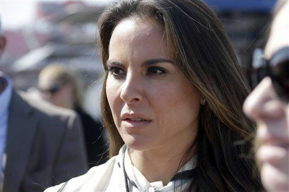 "FILE - In this March 24, 2013 file photo, Mexican actress Kate Del Castillo attends a NASCAR Sprint Cup auto race in Fontana, Calif. Mexican authorities said on Monday, Jan. 18, 2016, that they want to talk to the Mexican actress who arranged an interview with drug lord Joaquin ""El Chapo"" Guzman for actor Sean Penn. (AP Photo/Reed Saxon, File) Photo: Reed Saxon"
