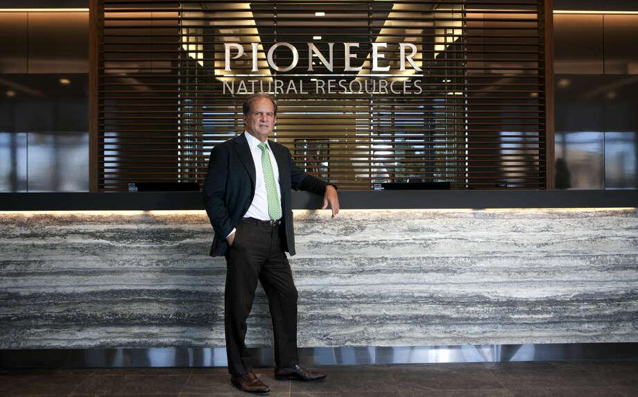 Scott Sheffield, CEO of Pioneer Natural Resources, in portrait Wednesday, Feb. 18, 2015 at the Pioneer building on North Big Spring in Midland. James Durbin/Reporter-Telegram Photo: James Durbin