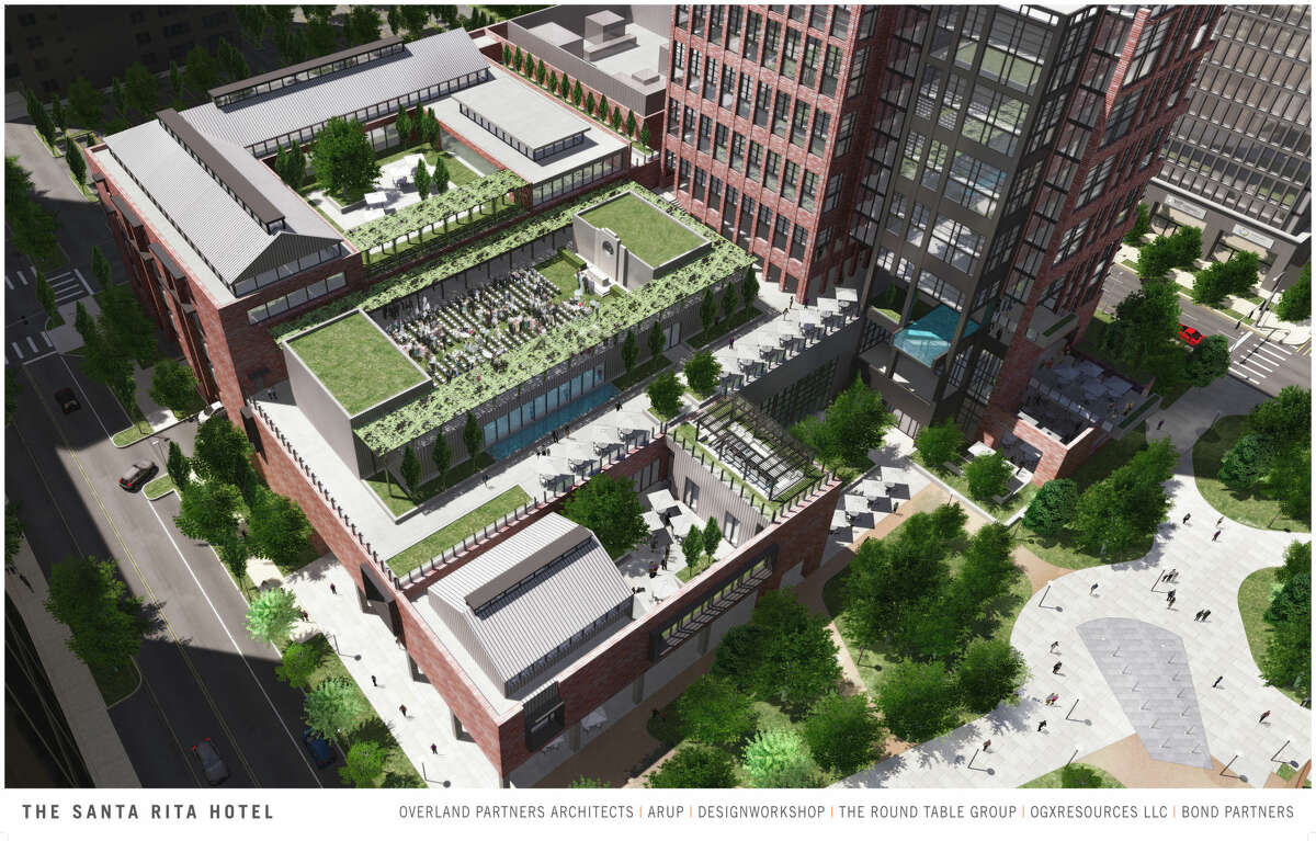 Overland Partners previously presented renderings of the proposed Hotel Santa Rita to City Council.