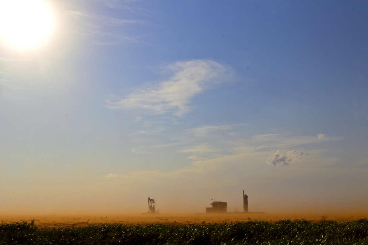A dust storm rolls across FM 829 in Stanton. James Durbin/Reporter-Telegram
