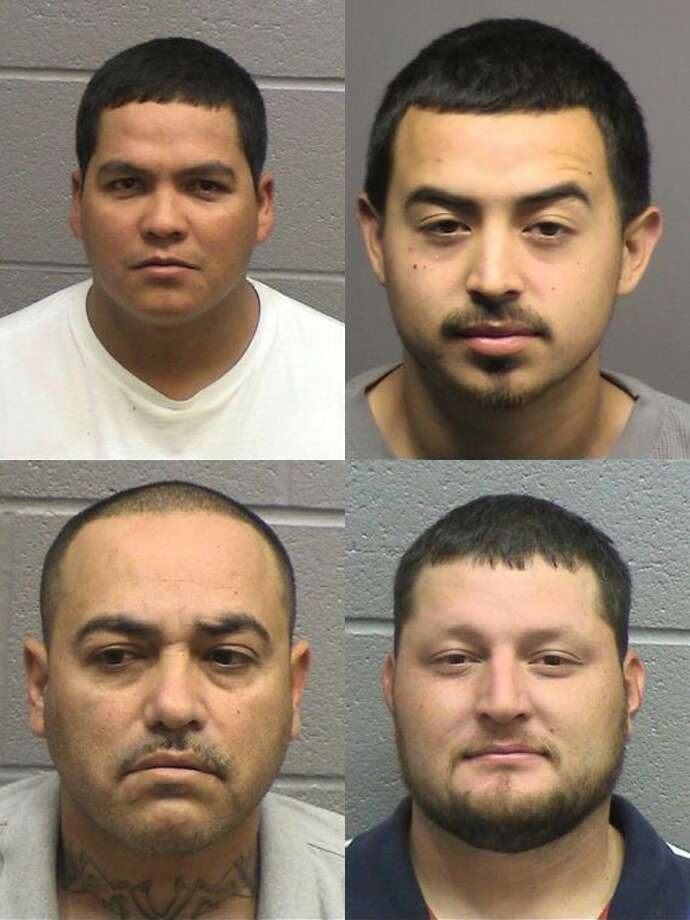 Roberto Jordan, 29, top left; Jonathan Omar Lopez, 24, top right; Edward Martinez, 43, bottom left — all of Midland — and Jesus Antonio Salmon, 27, bottom right, of El Paso, all were arrested Dec. 5 on a state jail felony charge of possession of a controlled substance less than 1 gram. Salmon also was being held on another $10,000 bond for a third-degree felony charge of tampering with and fabricating physical evidence.The four men were snorting cocaine in a men's restroom stall at a Midland bar. The men's loud snorting alerted police at the location and were arrested. Salmon tried to destroy evidence of the drug in the restroom, according to their arrest affidavits.If convicted, the men face up to two years in prison for the state jail felony charge. Salmon faces up to 10 years in prison for the third-degree felony charge.