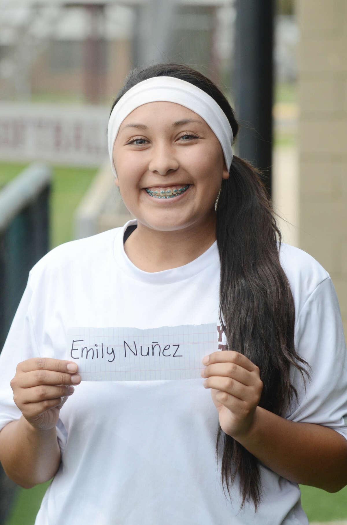 Lee High varsity softball mug - Emily Nunez James Durbin/Reporter-Telegram