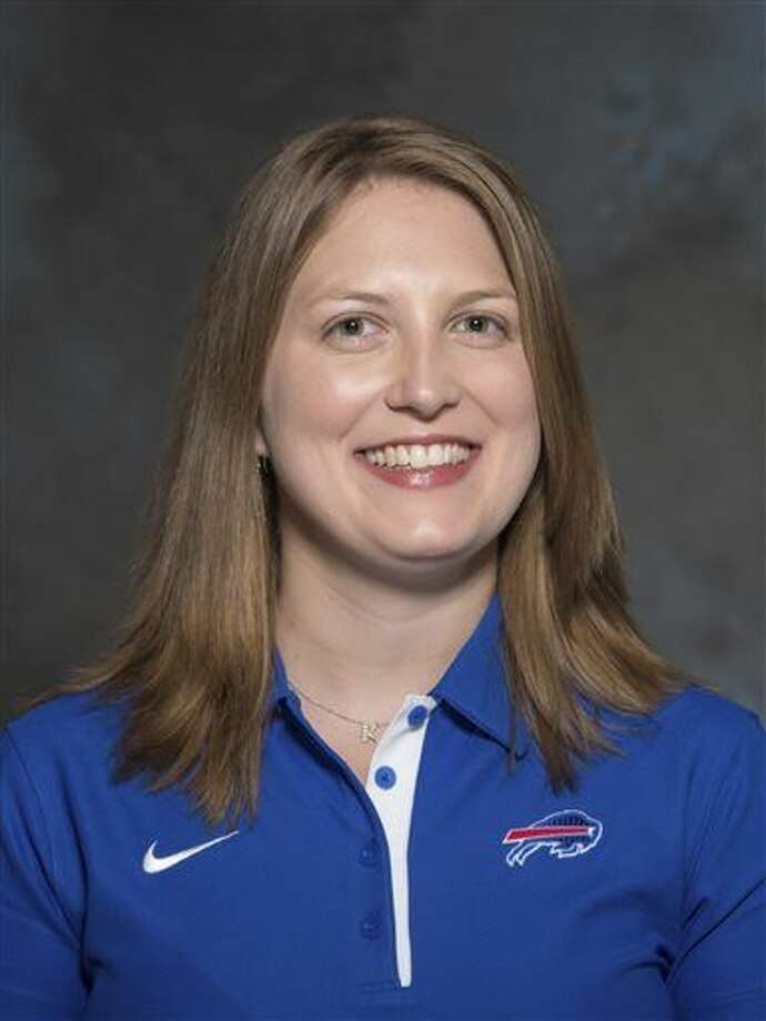 FILE - A May 2015 photo shows Kathryn Smith of the Buffalo Bills NFL football team. The Bills promoted Smith to be their special teams quality control coach, making her the first full-time female member of an NFL coaching staff. The team announced the move in a release Wednesday night, Jan. 20, 2016. Smith was an administrative assistant this season for Bills assistant coaches under Rex Ryan, with whom she has worked for seven years. (AP Photo/File) Photo: FRE