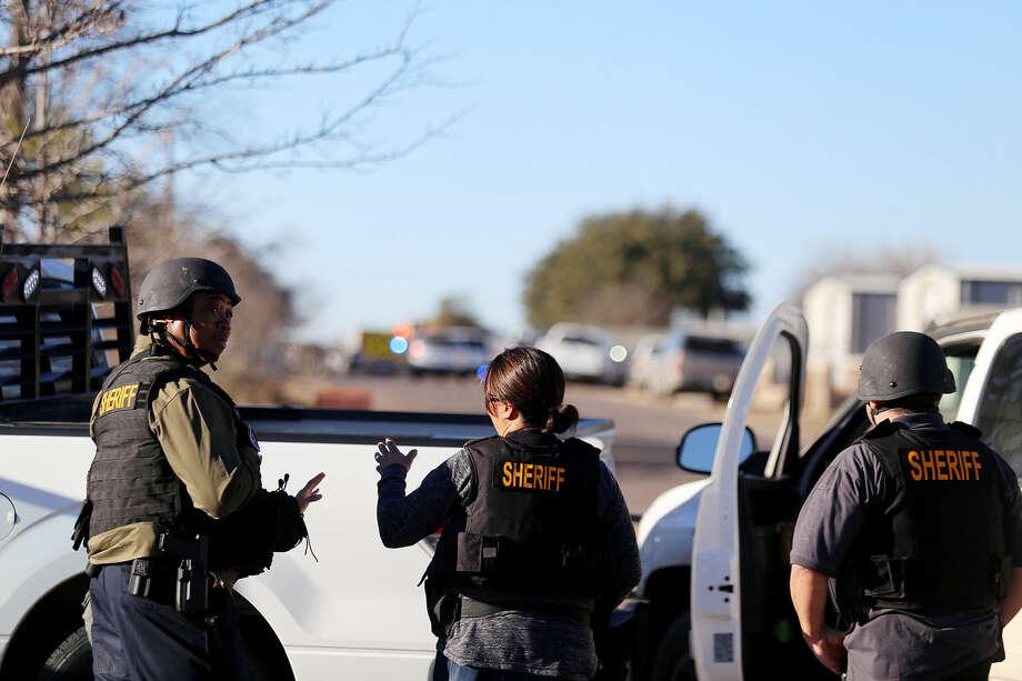 The Midland County Sheriff's Office responds to a standoff Tuesday near 3700 South County Road 1313 in Odessa. Edyta Blaszczyk / Odessa American Photo: Edyta Blaszczyk|Odessa American