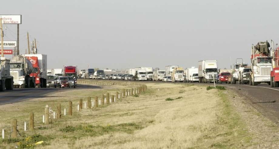 Traffic in the west bound lanes, between F.M. 1788 and Interstate 20 mile marker 134,