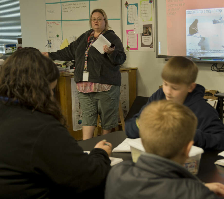 Leesha Seidel, sixth grade science teacher at Carver Center, is a Classroom Pioneer. Wednesday 01-20-16 Tim Fischer/Reporter-Telegram Photo: Tim Fischer