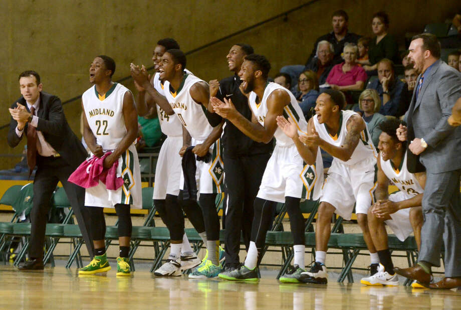 Midland College basketball players react on the bench during the game against Clarendon College on Dec. 6 at Chaparral Center. James Durbin/Reporter-Telegram Photo: James Durbin