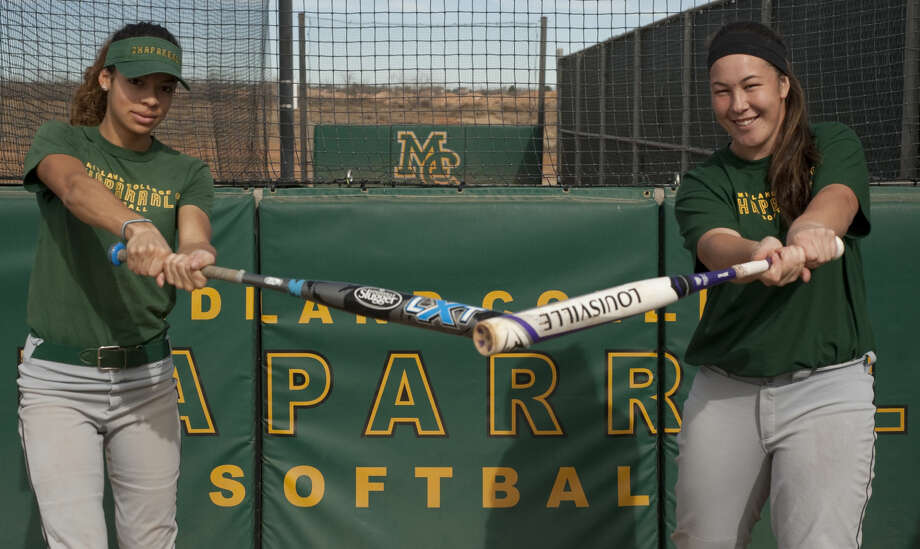Midland College brings back two of its big hitters, Danielle Bottley, left and Tyneesha Houkamau as it prepares for this season. Tim Fischer\Reporter-Telegram Photo: Tim Fischer