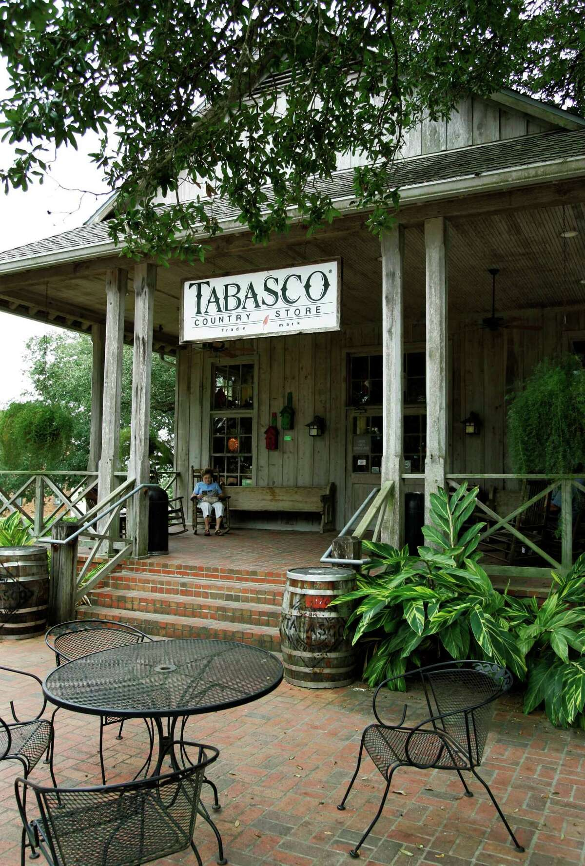 The Tabasco country store sells a variety of Tabasco products at Avery Island, La.