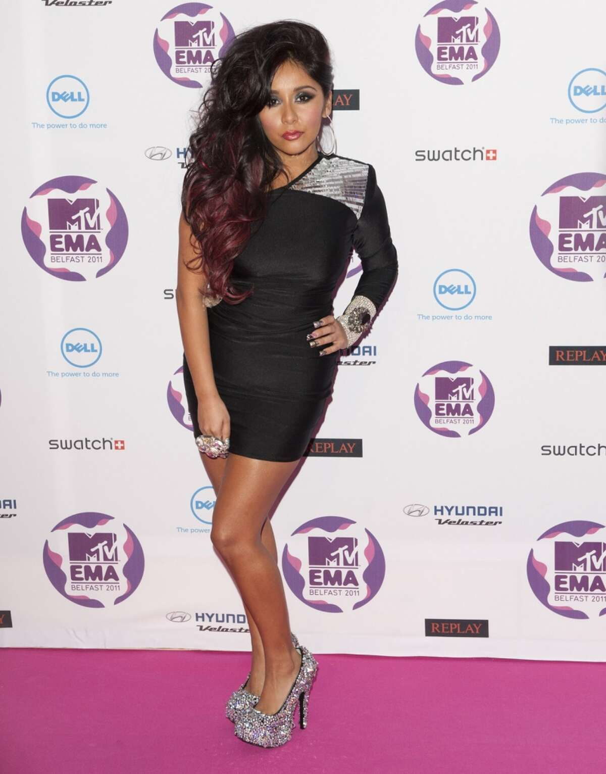 Snookie Of The Jersey Shore Arriving For The 2011 Mtv Europe Music Awards At The Odyssey Arena, Belfast. (Photo by Mark Cuthbert/UK Press via Getty Images)