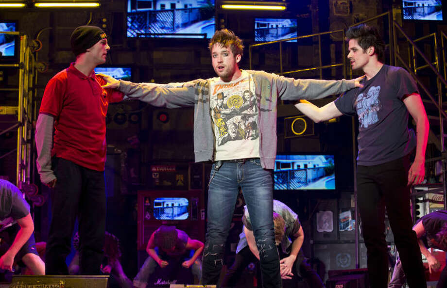 "Dan Tracy (Tunny), Jared Nepute (Johnny) and Casey O'Farrell (Will) in ""American Idiot."" Photo: Jeremy Daniel"