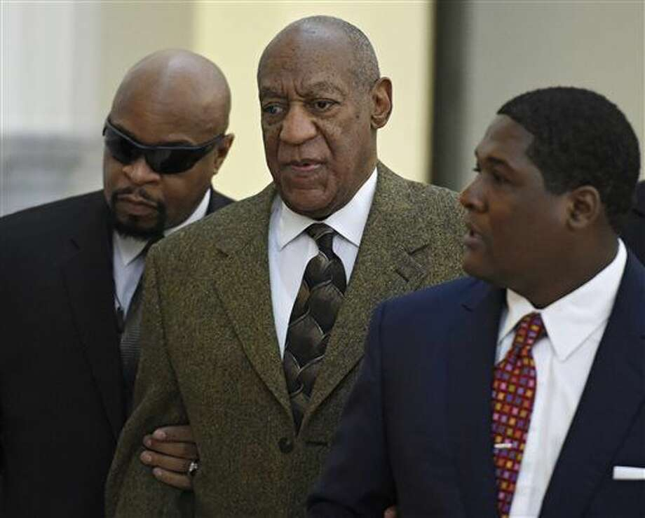Actor and comedian Bill Cosby, center, arrives for a court appearance Tuesday, Feb. 2, 2016, in Norristown, Pa. Cosby was arrested and charged with drugging and sexually assaulting a woman at his home in January 2004. (Clem Murray/The Philadelphia Inquirer via AP, Pool) Photo: Clem Murray