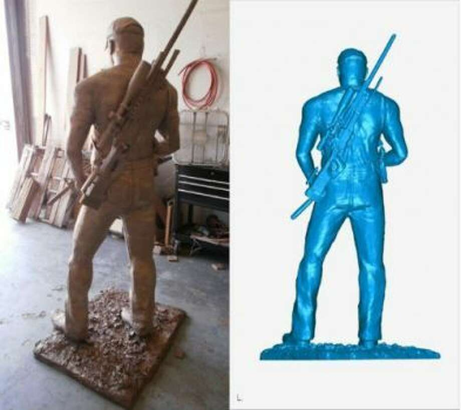 This week the firm that volunteered 3D laser-scanning services to sculptor Greg Marra for his statue of Chris Kyle was touting its work on the statue of the American sniper done by back in mid-2013. When and where the statue will end up on display seems to be up in the air though.