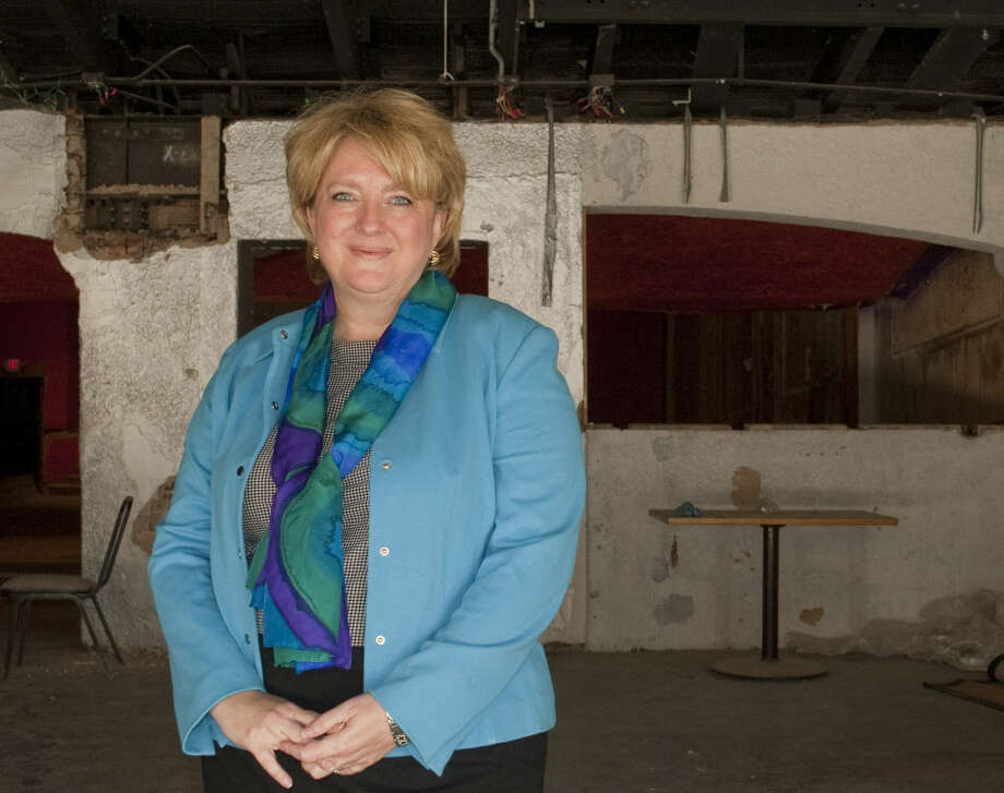 Carla Holeva, new CEO/General Manager of Basin PBS, 2-4-15, talks about the work needed to transform the Ritz Theater into their new offices and studio. Tim Fischer\Reporter-Telegram Photo: Tim Fischer