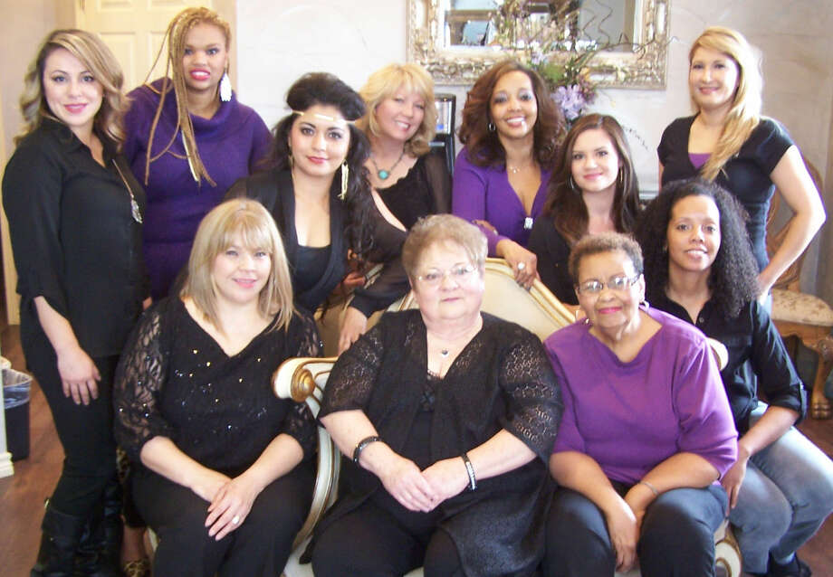 The staff at La Debo Na— (counterclockwise starting at front left: Sylvia, Ruby, Chris, Shaunna, Claudia, Krystal, Paula, Vicki, Paola, Abbriel and Lorelei—are ready to help you with a relaxing spa experience for the holidays. Call them at 432-683-4171.