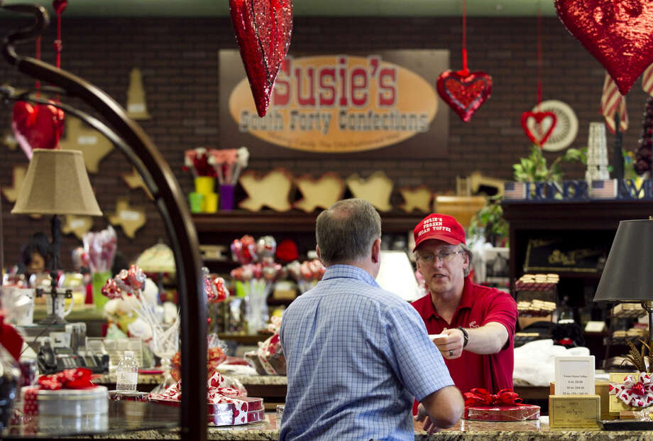 Valentine's Day preparations at Susie's South Forty Confections on Friday, Feb. 13, 2015. James Durbin/Reporter-Telegram Photo: James Durbin