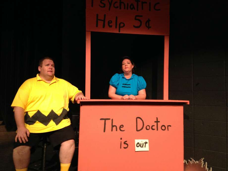 "Scott Windham and Maija Johnson-Horne star as Charlie Brown and Lucy Van Pelt in Permian Playhouse's season opener ""You're a Good Man, Charlie Brown."" Photo: Courtesy Photo"