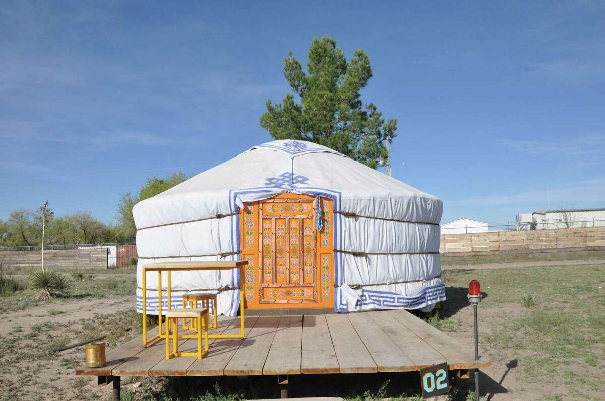 El Cosmico in Marfa offers trailers, teppes, even a yurt, as accommodations.