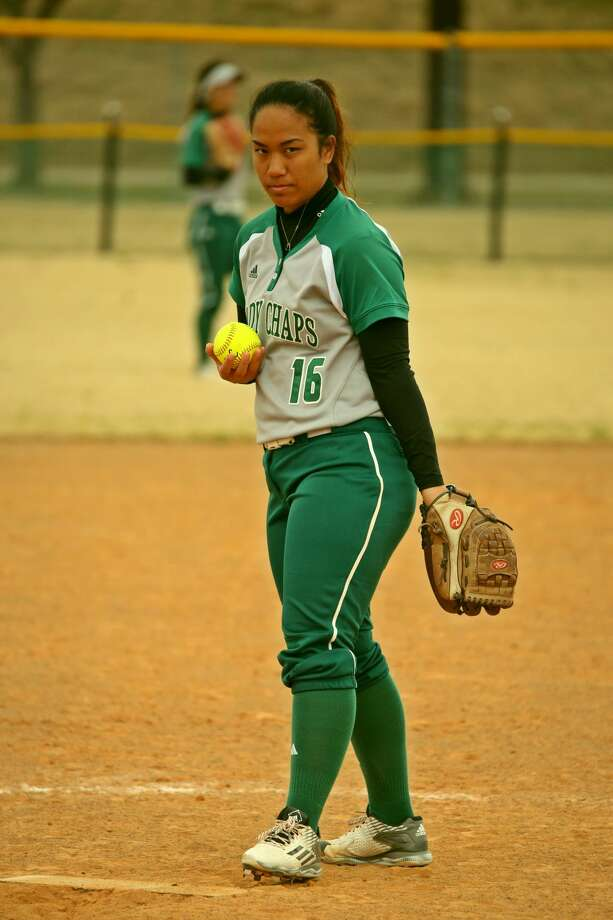 Midland College pitcher Sanae Nakoa is shown in action during the Cowtown Tournament in Fort Worth earlier this month. Photo: Forrest Allen|MC Athletics