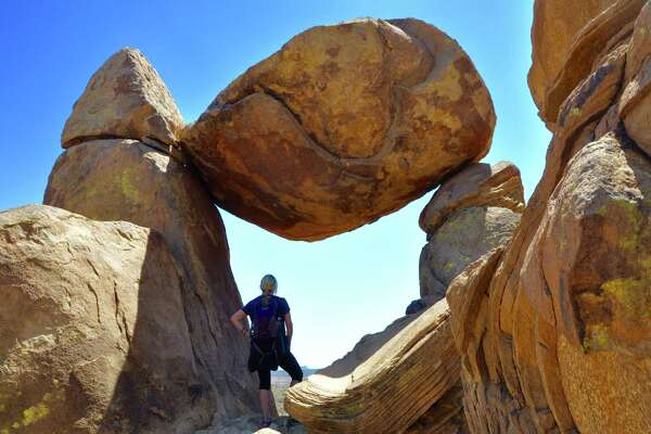 Big Bend National Park's Grapevine Trail leads to the Balanced Rock formation.