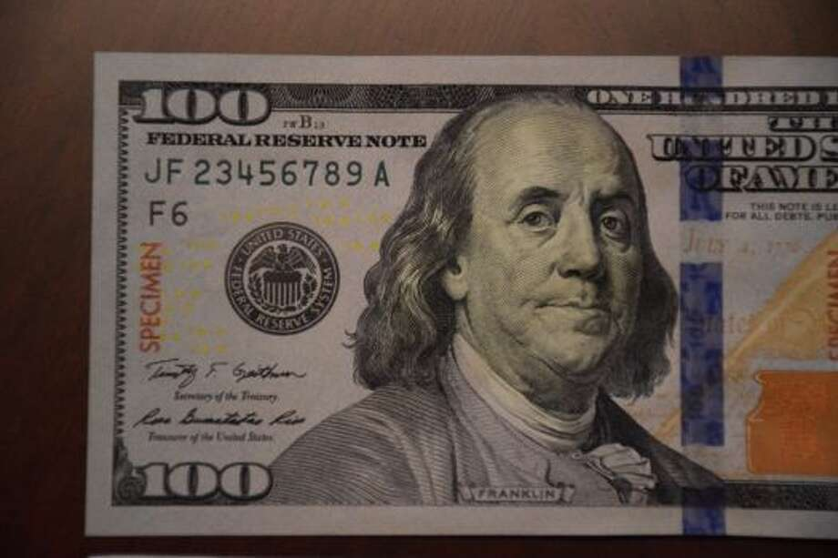 New $100 bills use security features including color shifting ink to prevent counterfeiting.