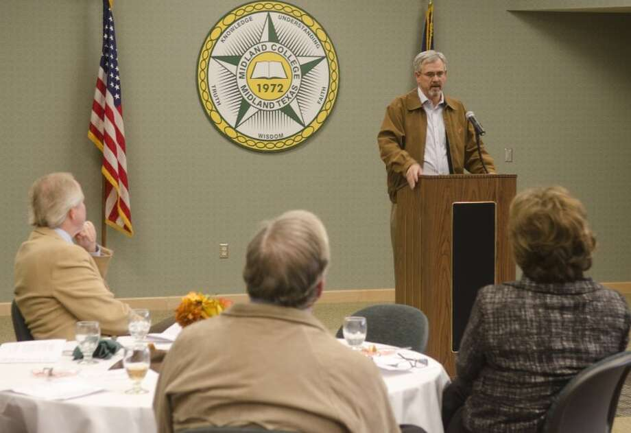 David Smith, executive director Abell-Hanger Foundation, talks about the importance of volunteers at the Midland College Legacy Essay Awards Luncheon in this MRT file photo. Photo by Tim Fischer/Midland Reporter-Telegram Photo: Tim Fischer