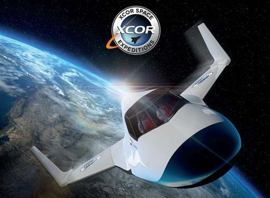 This undated image provided by XCOR shows the XCOR Lynx, a suborbital horizontal-takeoff, horizontal-landing, rocket-powered spaceplane under development by the California-based company XCOR. Space tourism companies are employing designs including winged vehicles, vertical rockets with capsules and high-altitude balloons. While developers envision ultimately taking people to orbiting habitats, the moon or beyond, the immediate future involves short flights into or near the lowest reaches of space without going into orbit. (XCOR via AP) Photo: HONS