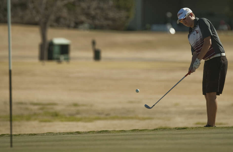 Lee's Chase White follows his shot Friday, 2-20-15, during the Tall City Golf Invitational at Green Tree Country Club. Tim Fischer\Reporter-Telegram Photo: Tim Fischer