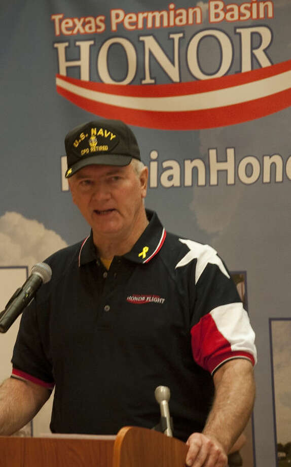 Jack Barnes, director of Permian Basin Honor Flight, speaks Tuesday during the press conference to raise awareness and funds for the Permian Basin Honor Flight, to honor WWII veterans with a flight to Washington DC to see the memorial. Tim Fischer\Reporter-Telegram Photo: Tim Fischer