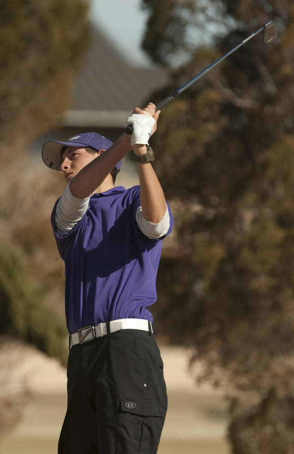 Midland High's Cory McCurdy follows his shot Friday, 2-20-15, during the Tall City Golf Invitational at Greentree Country Club. Tim Fischer\Reporter-Telegram Photo: Tim Fischer