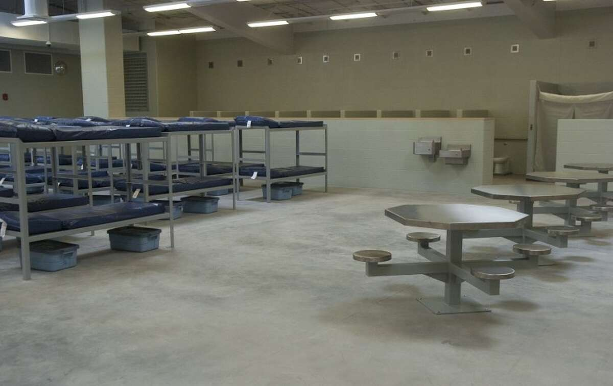 (File Photo) One of three pods that will hold prisoners when the new Midland County Jail opens Mnday. Photo by Tim Fischer/Midland Reporter-Telegram