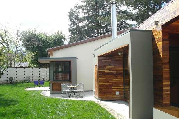 A passive solar home in Saratoga designed by Srusti Architects.