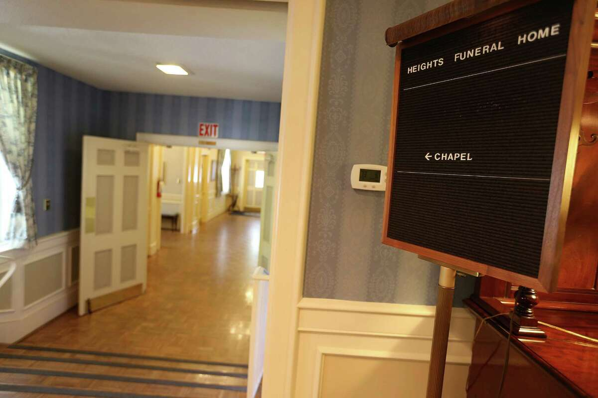 Photos of Heights Funeral Home, the first funeral home and childhood home of Robert Waltrip, founder of Service Corp. International. ( Elizabeth Conley / Houston Chronicle )