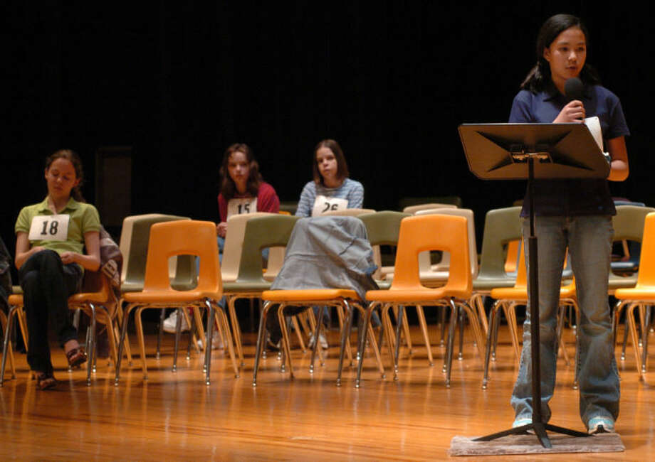Winning words: Triceratops for Danielle in 2006; baliwick for Thomas in 2011; frangible for Thomas in 2012; acquittal for Gabby in 2013; fantoccini for Gabby in 2014.Photo: Danielle Rubio, winner of the 2006 MRT Spelling Bee.