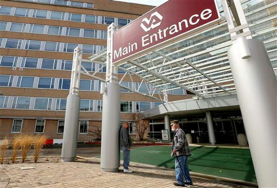 FILE - This April 2, 2015 file photo shows the main entrance to the William S. Middleton Memorial Veterans Hospital in Madison, Wis. In a 2010-2013 study on death rates and readmissions released on Tuesday, Feb. 9, 2016, veterans' hospitals compare favorably with others when it comes to treating older men with three common conditions — heart attacks, heart failure and pneumonia. (John Hart/State Journal via AP) Photo: John Hart