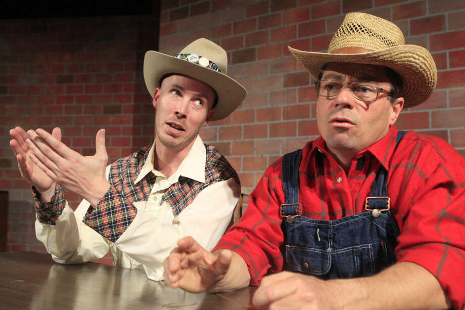 """Rehearsal for MCT production """"Greater Tuna"""" featuring Justin Tate (left) and Joe Thomson (right), photographed Thursday, Feb. 18, 2015. James Durbin/Reporter-Telegram Photo: James Durbin"""