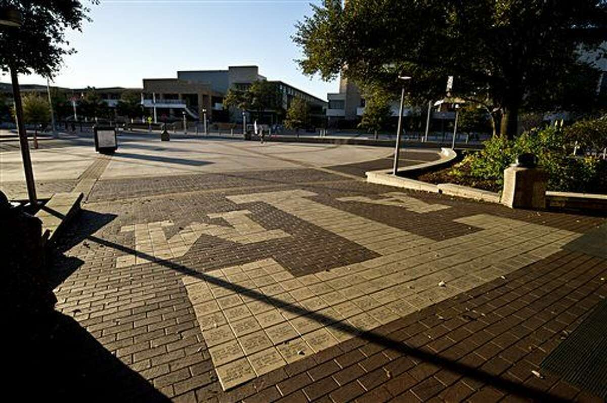 Texas A&M Campus, just outside Rudder Tower, is seen Friday, Feb 12, 2016, in College Station, Texas.