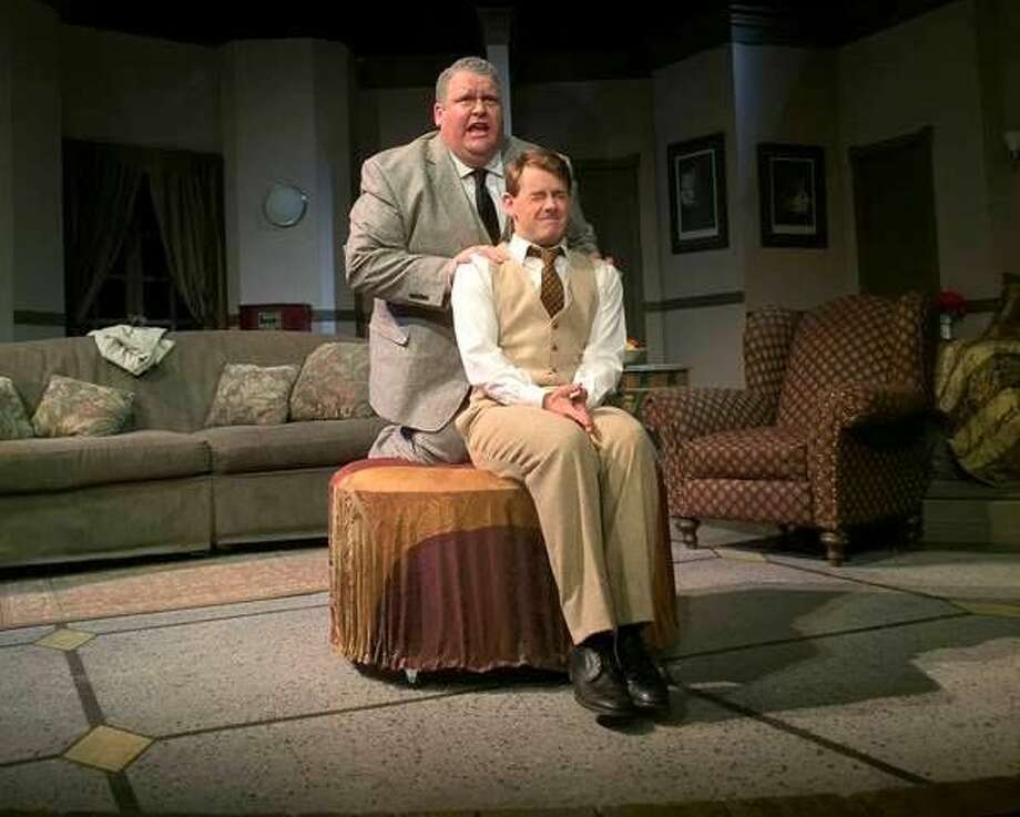Henry (Scott Windham, left) and Max (Anthony Vickery) figure out their options when things go wrong with an ailing opera star in 'Lend Me a Tenor.'  Photo: Courtesy Photo