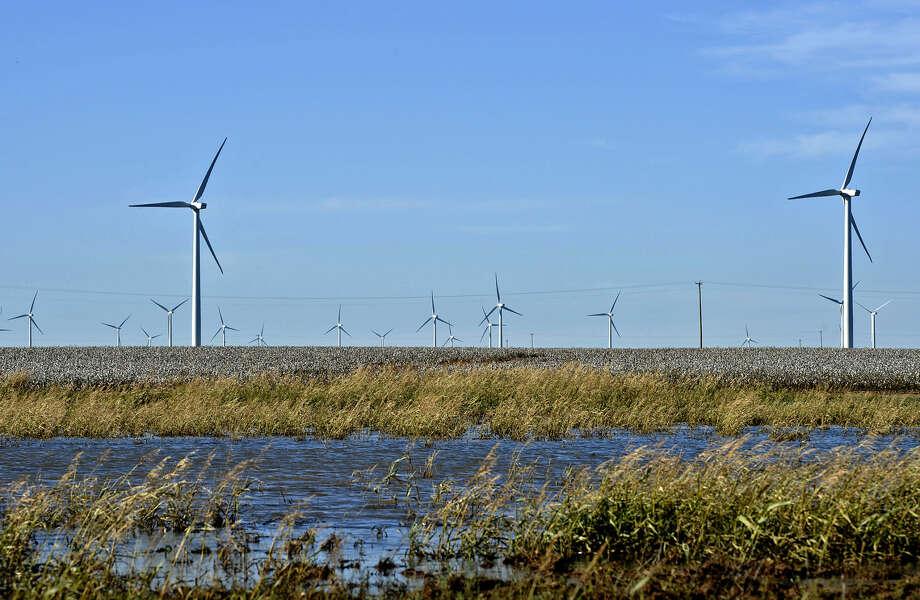 Wind turbines in action Tuesday, Oct. 27, 2015, north of Stanton, Texas. James Durbin/Reporter-Telegram Photo: James Durbin