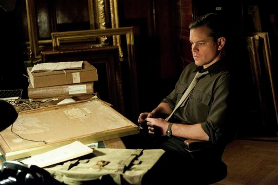 "This undated publicity photo provided by Sony Pictures Publicity shows actor Matt Damon in a scene from the Columbia Pictures film ""The Monuments Men."" Damon portrays James Rorimer who was one of a group of men tasked with saving works of art during World War II. (AP Photo/Sony Pictures Publicity) Photo: Claudette Barius / Sony Pictures Publicity"
