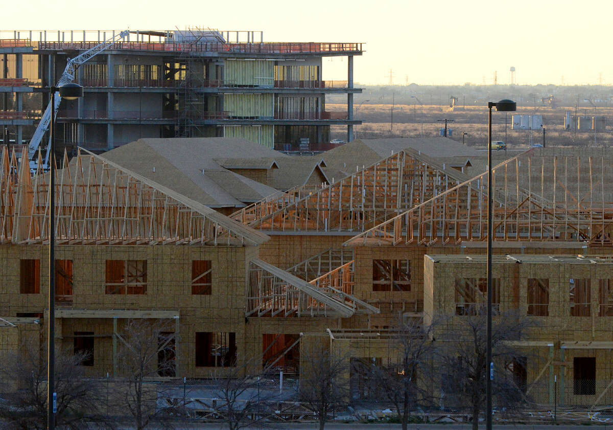 File art home and business construction behind Legends Park near Hwy 191, photographed Tuesday, Feb. 17, 2015. James Durbin/Reporter-Telegram