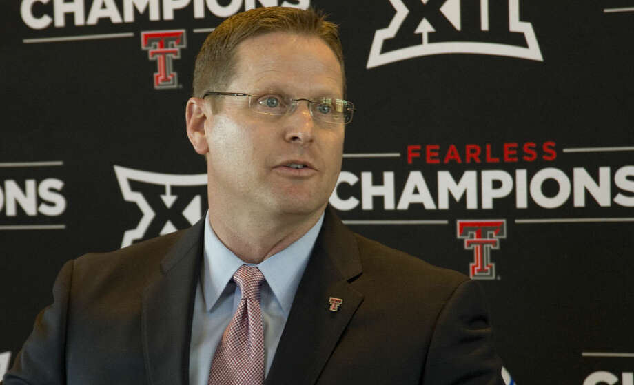 Kirby Hocutt, Texas Tech athlitic director announces Monday 02-15-16 the return of Tech athletics to Midland with baseball playing Abilene Christian on April 2 at Security Bank Ballpark and Tech spring football scrimage April 5 at Grande Communications Stadium. Tim Fischer/Reporter-Telegram Photo: Tim Fischer