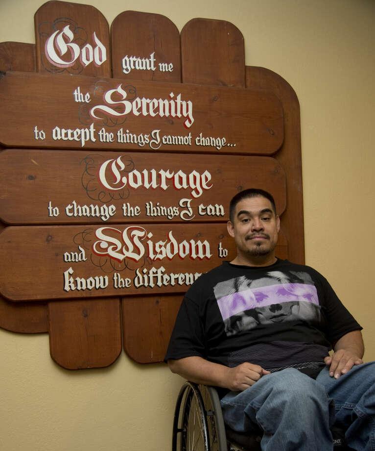 David Gutierrez, former gang member and addict, is now a teen counselor at PDAP. Thursday 02-11-16 Tim Fischer/Reporter-Telegram Photo: Tim Fischer