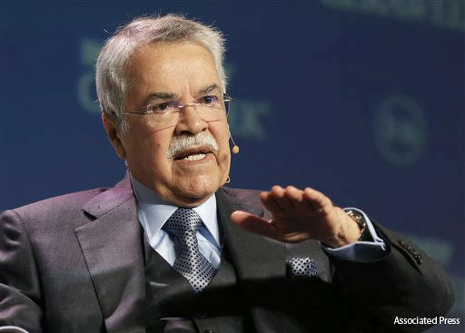 Ali Al-Naimi, the former Saudi oil minister  speaks at the annual IHS CERAWeek global energy conference Tuesday, Feb. 23, 2016, in Houston. (AP Photo/Pat Sullivan) Photo: Pat Sullivan