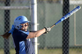 Greenwood catcher Payslee Sims photographed in a West Texas Classic game against Presidio on Thursday, Feb. 25, 2016 at Freddie Ezell Softball Complex. James Durbin/Reporter-Telegram