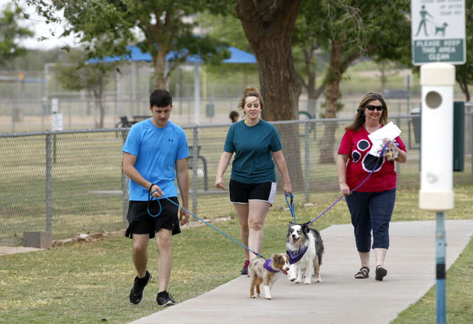 "The American Cancer Society's ""Bark for Life"" walk on Saturday at Hogan's Run Dog Park. James Durbin/Reporter-Telegram Photo: James Durbin"