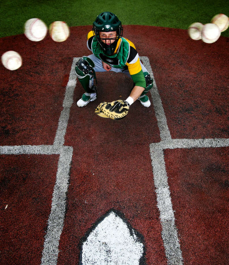 Sophomore catcher Chris Shaw, shown in portrait, is the top returning player for the Midland College Chaparrals after a visit to the Junior College World Series last year. James Durbin/Reporter-Telegram Photo: JAMES DURBIN