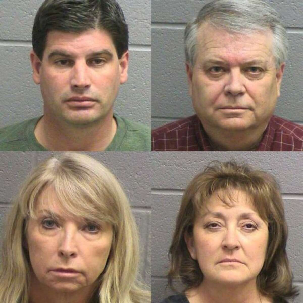 Michael Duraine Cowan II, 42, top left; Stephen Mark Hilliard, 58, top right; Cynthia Gayle Hirsch, 61, bottom left; and Berta Laura McFaddin, 55, bottom right, face federal charges of conspiracy to commit bank fraud. Hilliard and Cowan were also charged with money laundering.The four defendants were allegedly involved in a real estate scam that involved 800 properties and $45 million in bank loans.If convicted of the federal crime of conspiracy to commit bank fraud, each defendant could receive a 30-year prison sentence, a term of supervised release not to exceed three years and a fine not to exceed $1 million. If Hilliard and Cowan are found guilty, the pair could also face a 20-year prison sentence, a term of supervised release not to exceed three years and a fine not to exceed $500,000.