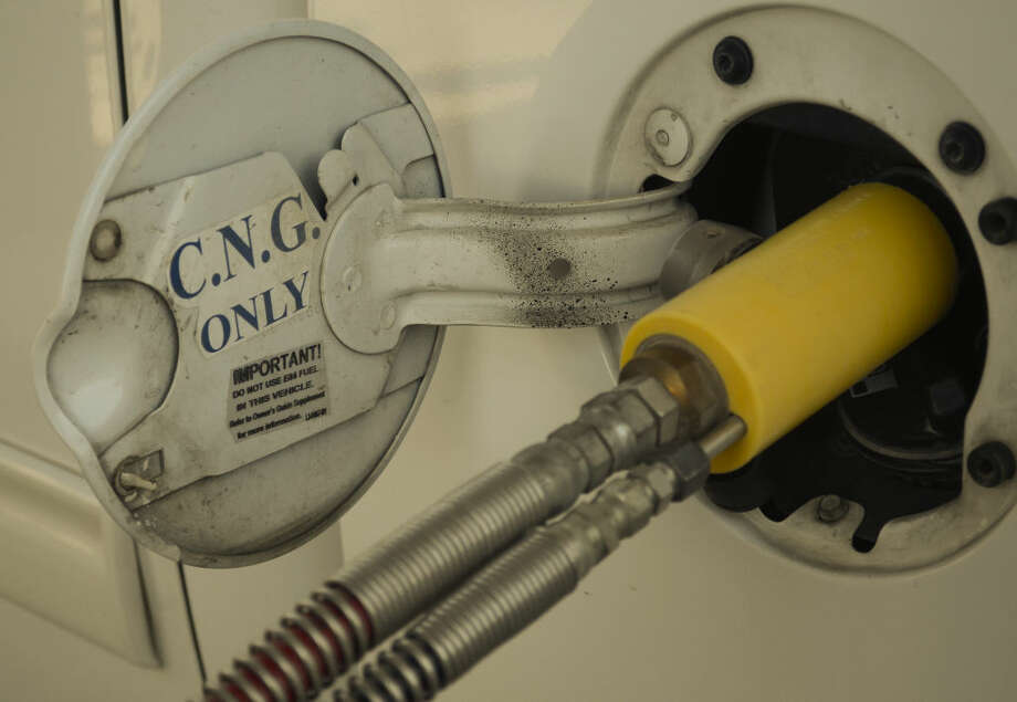 CNG fueling pump available to the public at two Stripes Convenience Stores in Midland, one at 3200 E. Highway 158 and the other at Big Spring and Loop 250. Photo: Tim Fischer